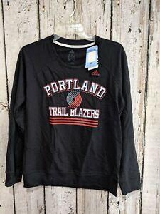 LZ Women's Small Adidas Portland Trail Blazers NBA Terry Pullover Sweatshirt NEW