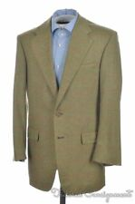 FALCONE Green Brown Check 100% CASHMERE Blazer Sport Coat Jacket - BESPOKE 38 R