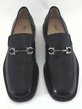 SALVATORE FERRAGAMO Studio Loafers Gancio Horse Bit Black Mens US 9.5/43.5 $630