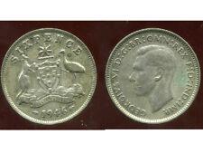 AUSTRALIE AUSTRALIA   sixpence  1946   ARGENT  SILVER