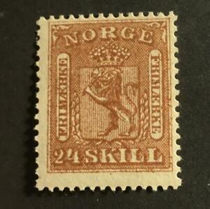 Norway Scott's #10 Mint light hinged, very fresh!! Catalog $50.00