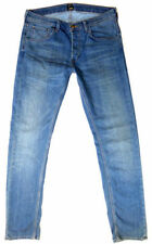 Stonewashed Classic Fit, Straight 36L Jeans for Men