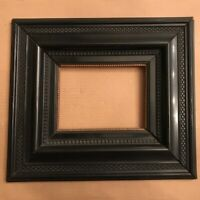 Antique1700s - 1800s Dutch Ebonized Picture Frame - Gilded Liner - VERY HEAVY