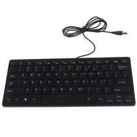 Leise kleine 78-Tasten-Mini-Multimedia-USB-Tastatur für Laptop PC Offic wgCHDECW