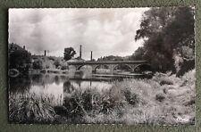 CPSM. GEUGNON. 71 - Le grand Pont. Cheminées Usine.