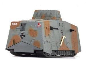 Panzerkampf  WWI German heavy A7V combat grey Camouflage 1/72 DIECAST model tank