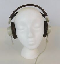"Vintage Telex 610 Headphones School Style Adjustable 6.3mm 1/4"" connection  NEW"