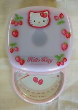 Sanrio Hello Kitty Pink Kitchen Scale with Strawberries in Grams Made in Japan