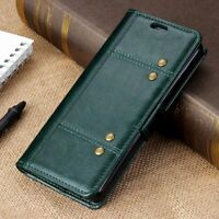 For Sony Xperia 10 Plus Retro Magnetic Flip Leather Wallet Card Stand Cover Case