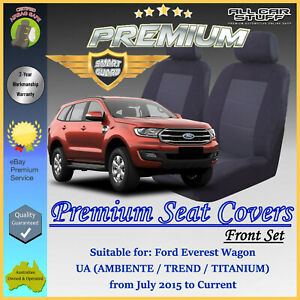 Premium Black Front Seat Covers for Ford Everest UA Wagon: 07/2015 to Current