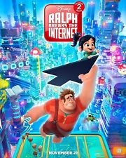 "Disney's RALPH BREAKS THE INTERNET 2018 DS 2 Sided 27x40"" Movie Posters Set Of 2"