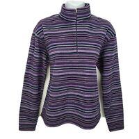 Patagonia Capilene 1/4 Zip Long Sleeve Pullover Fleece Sweater Size L Purple