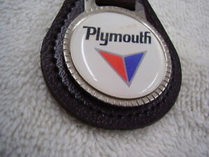 PLYMOUTH  VALIANT ?  KEY CHAIN   LEATHER FOB