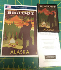 Alaska Bigfoot Patch and Postcard Set - Lantern Press - This Forest Is Home ..