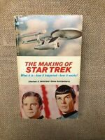 The Making of Star Trek Paperback Book First Printing 1968 Whitfield Roddenberry