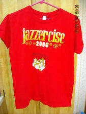 Jazzercise Womens Red Christmas 2006 Shirt Mason Dixon Xmas Wish Fund Sz M VGUC