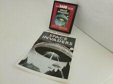 NEVER USED SPACE INVADERS CARTRIDGE & MANUAL FOR PAL ATARI 2600 & RETRON  77 N35