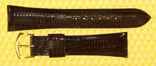 20mm Vintage OMEGA Real-Lizard Leather Watch Strap Band BROWN <NWoT>