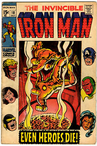 IRON MAN #18 - OCTOBER 1969 - EARLY 15¢ MARVEL CLASSIC - LOW STARTING PRICE