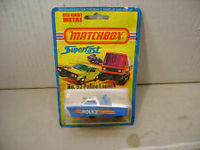 1975 MATCHBOX LESNEY SUPERFAST #52 POLICE LAUNCH MOC