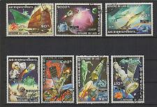 1974 Royaume du Laos 7 timbres oblitérés / T1492