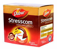 Dabur Ayurvedic Stresscom for physical & mental immunity, 120 Capsules per Pack