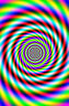 Framed Print - Hypnotic Spiral (Picture Optical Illusion LSD Psychedelic Art)