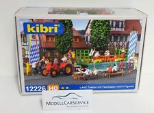 Kibri H0 12226 Lanz tractor con recogida und 6 figuras
