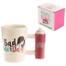 Fun Bad Hair Day Ceramic Mug Hair Spray Shaped Handle Comes Boxed Great Gift