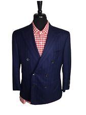 🔴 Stefano Ricci Size 50 EU 40 US Blue Stripe Double Breast Sport Coat Blazer