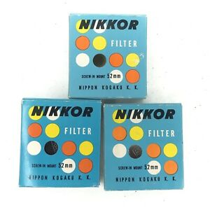 Nikkor Nikon 52mm Y44  L1A ND Colors Filter Case and Box Rare Free Shipping Lot