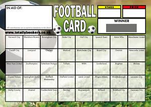FOOTBALL CARD FUNDRAISING SCRATCH CARDS  40 TEAMS - FOOTBALL CARD