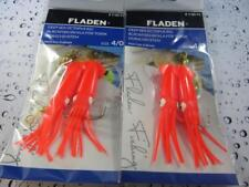 2 FULL RED FLADEN WINGED OCTOPUS 4/0 MUPPET RIG Cod Fishing Lure Sea Boat Tackle