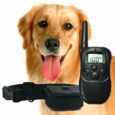 100LV 300Meter Remote LCD Pet Dog Training Electric Shock Vibration Collar US QE