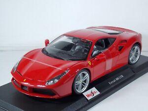 Ferrari 488 GTB. Red. 1:18 Scale. Maisto. MIB