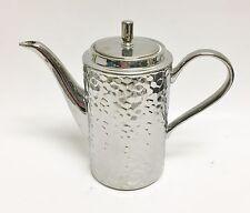 STUDIO METALLIC SILVER BEE HIVE DESIGN PORCELAIN COFFEE,TEA POT,TEAPOT 6 CUPS