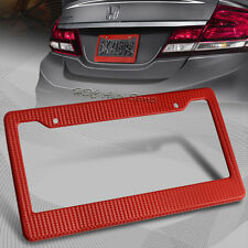 1 x JDM Red Carbon Fiber Look License Plate Frame Cover Front & Rear Universal 1