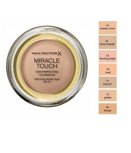 MAX FACTOR Miracle Touch Cream to Liquid Foundation 11.5g - CHOOSE - NEW Sealed
