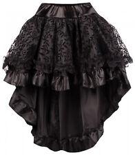 Damen Rock schwarz Gothic Steampunk Victorian Skirt Vintage Punk Rock