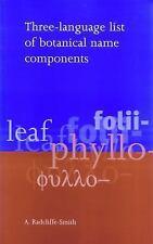 Three Language List of Botanical Name Components (Paperback or Softback)