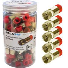 50x F-Kompressionsstecker Kompressionstecker 7,5mm rot für Koaxialkabel