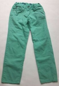 Crewcuts Jeans 10 Mint Green Toothpick Ankle Adjustable Waist Stretch Cotton