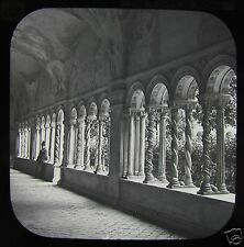 Glass Magic Lantern Slide ROME THE CLOISTERS OF ST PAULO C1890 ITALY .