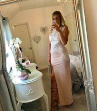 JESSICA WRIGHT SZ 14 NUDE SEQUIN LACE MAXI DRESS BNWT SISTAGLAM  / LIPSY / NEXT