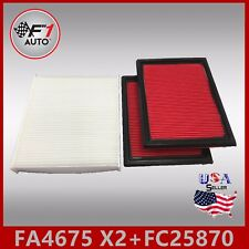 FA4675(X2PCS) FC25870 PREMIUM ENGINE & CABIN AIR FILTER for 2009-2013 FX50