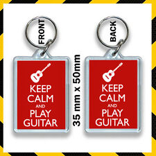 KEEP CALM AND PLAY GUITAR KEYRING 35X50MM  #1