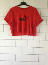 Cotton Crew Neck Cropped PUMA T-Shirts for Women