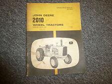 John Deere 2010 Wheel Tractors Owner Operator Manual OMT19264