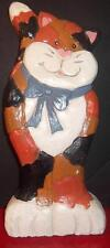 "Oomco Calico Cat Figurine Plaster 7.75"" Tall Cute!"