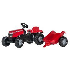 Rolly Toys Massey Ferguson Traktor mit Anhänger Trettraktor ohne Frontlader ro
